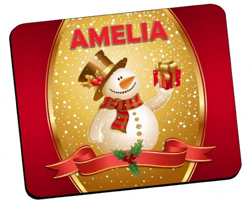 Personalised Christmas Table Placemat N23 - ANY NAME